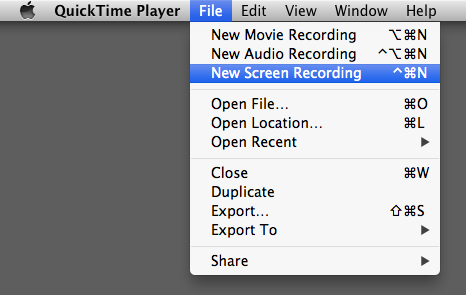 Using QuickTime Player for Screen Recordings